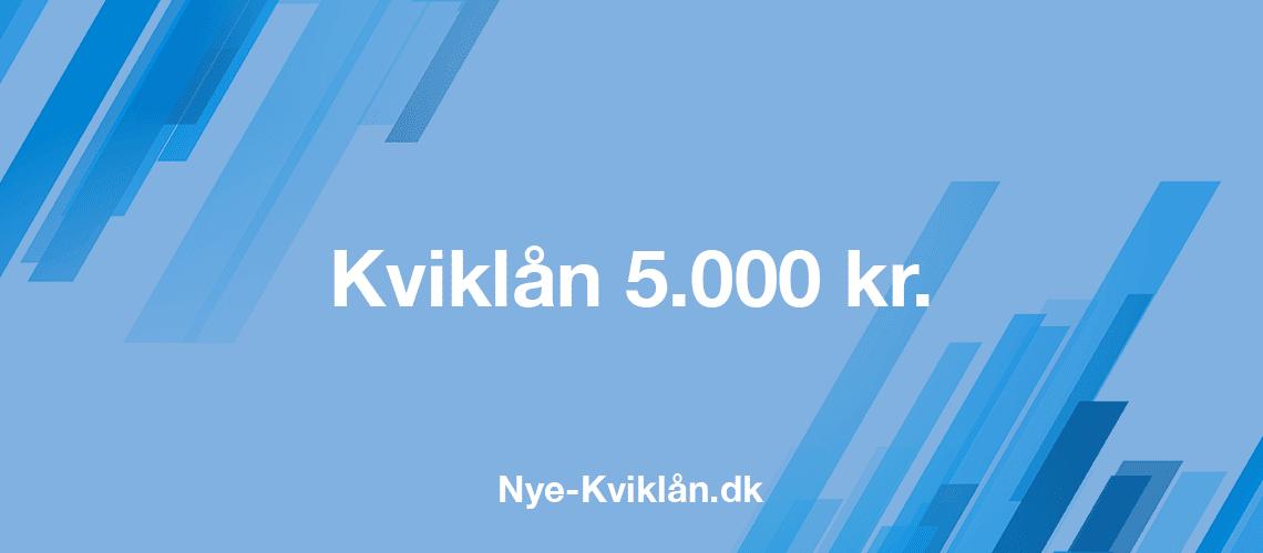 Kviklån 5000 kr